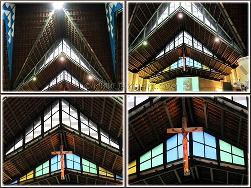 Beautifully designed ceiling of St Anne's Church, Bukit Mertajam