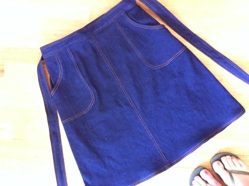 finished wrap skirt!