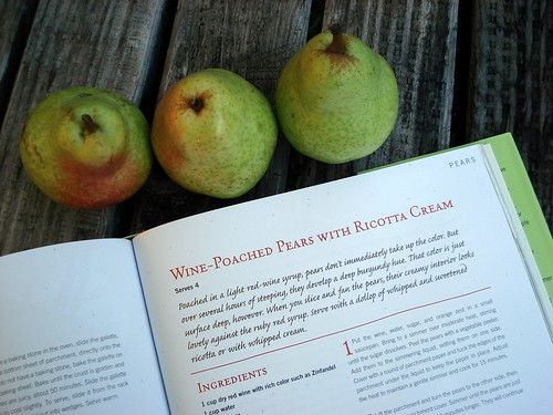 Wine-Poached Pears from Eating Local Cookbook