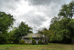 Little House on the Prairie (Lea and Luna) Tags: old trees house storm building abandoned weather architecture clouds rural virginia nikon cloudy decay country rustic structure architectural forgotten va nikkor haymarket decaying princewilliamcounty distresed d5100 18mm55mmf35