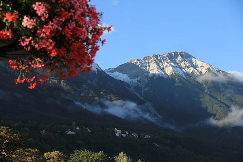 The August-snow in Innsbruck