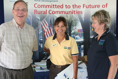 L-R:  Rural Development State Director Elsie M. Meeks and Natural Resources Conservation Service State Conservationist Janet Oertly.