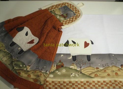 Kit cozinha Carneirinho Country Vermelho by tania patchwork