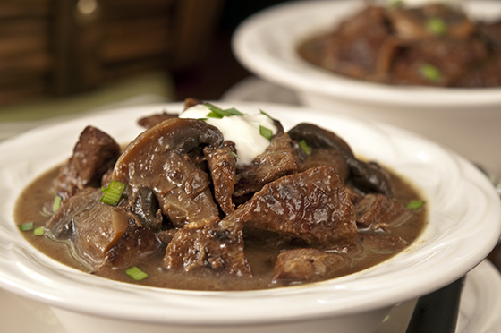 Steak and Mushroom Soup in a Slow Cooker