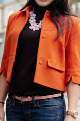 H&M orange swing jacket