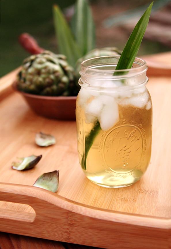 nuoc mat artichoke pandan tea