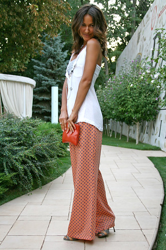 summer look, Park Residence Odessa, zara pants, celine clutch, fashion blog