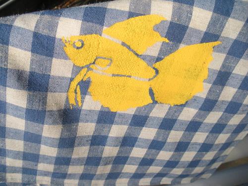 Beta Fish Screened Napkins! 6105778633_43a7a306d7