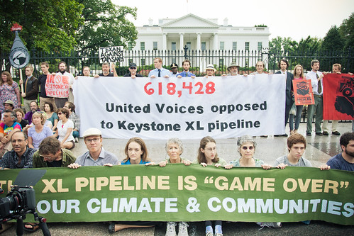 Tar Sands Delivery Banner at the White House