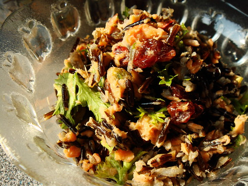 Smoked Salmon Cherry Pistachio Wild Rice Salad