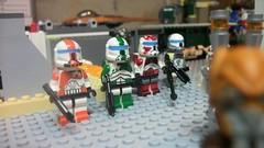 Delta Squad (Clonedecalmaker12) Tags: boss blue starwars paint republic lego delta clones sev squad custom visor commandos scorch fixer