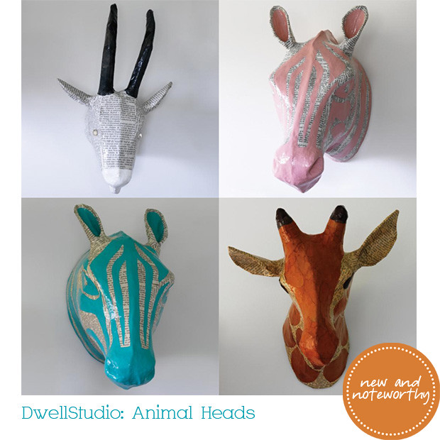 animal heads from dwellstudio