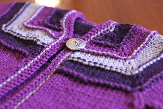 Super-Purple Stripes Baby Sweater