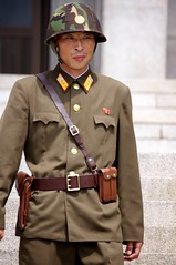 Demilitarized Zone - North Korea (Joseph A Ferris III) Tags: soldier uniform dmz northkorea dprk kaesong demilitarizedzone