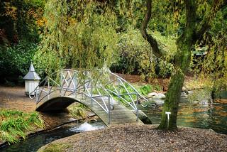 Arched footbridge