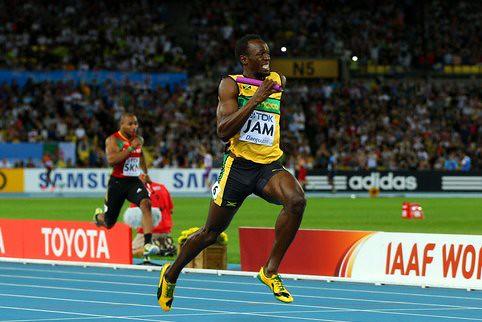 Usain Bolt la figura en el mundial de atletismo de Daegu 2011