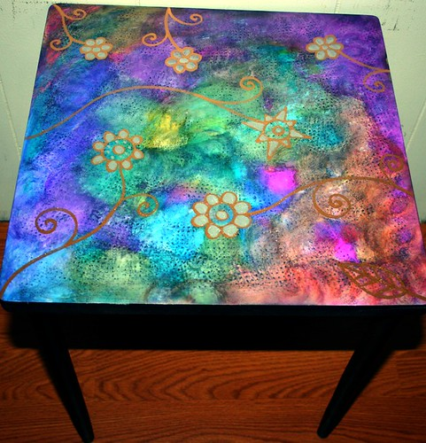 "18"" x18"" Accent Table by Rick Cheadle Art and Designs"