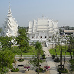 White temple, outside Chiang Rai thumbnail