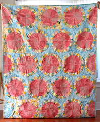 single girl twin quilt (marywasadj) Tags: quilt handmade quilting freemotionquilting vintagesheets singlegirlquilt modernquilting