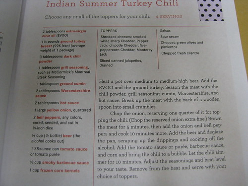 recipe Indian Summer Turkey Chili
