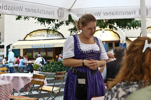 Waitress wearing Dirndl