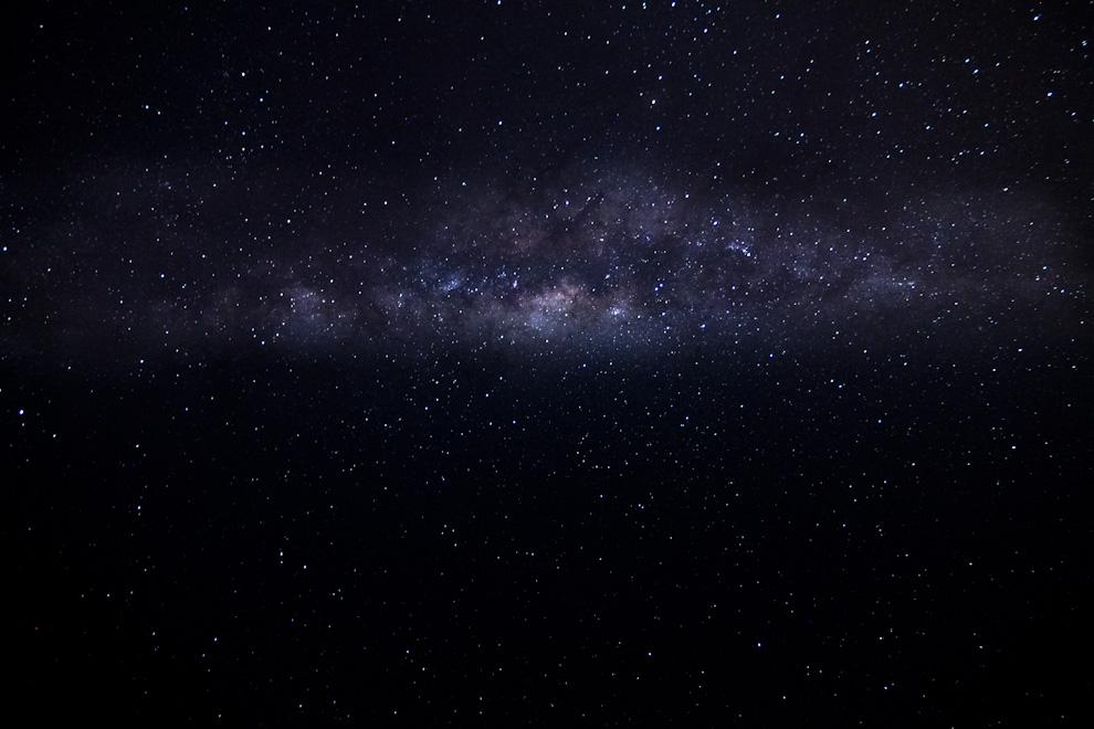 La Vía Láctea puede observarse con claridad en esta toma de 30 segundos realizada en la localidad de Zanjita. (Tetsu Espósito)