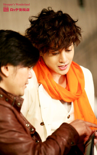 Kim Hyun Joong Lotte Duty Free Behind The Scene Photos