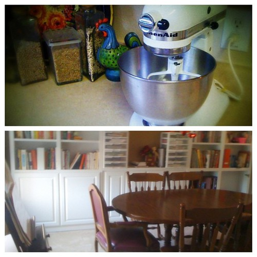 Making life easier. #incourage #bookcases #mixer