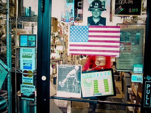 Firefighter American Flag Closed, New York 2001