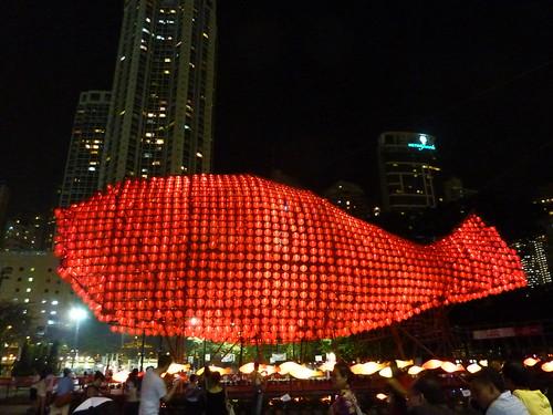 HK。香港的中秋節是燈籠節