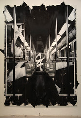 The Metro, 2011, 210cm x 152cm, spray can & acrylic on Mdf (hand cut stencils)