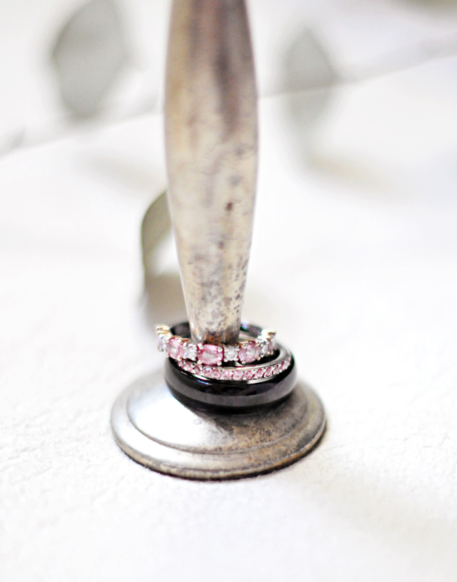 wedding bands infinity rings diamond and pink stones