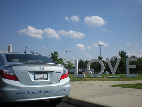 The BLR loaned Honda Civic and Virginia is for Lovers
