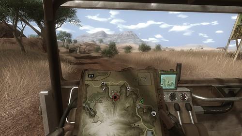 Driving around the savanna