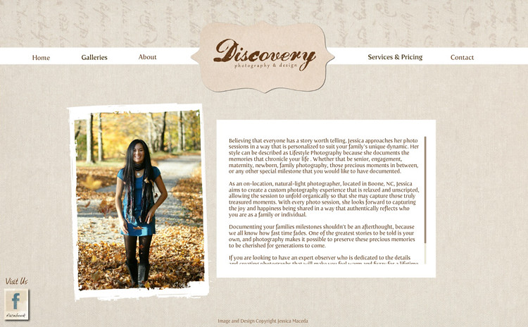 Discovery Photography & Design About | Boone, NC
