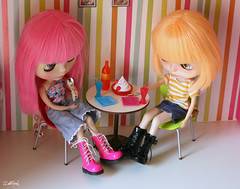 Lolli and Candy having a snack :)