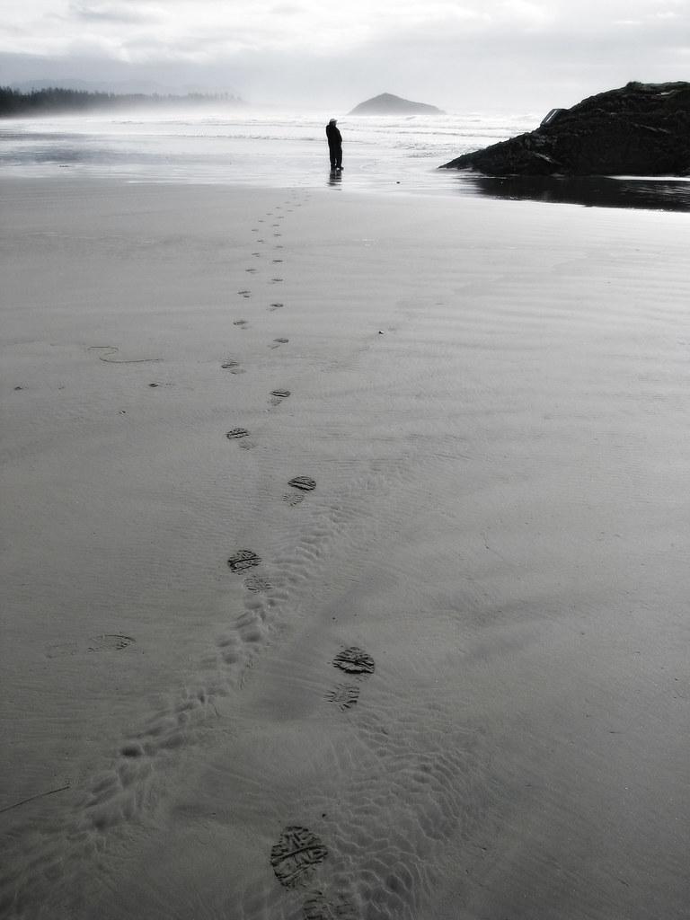 Foot Prints at Long Beach
