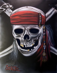 Pirates of the Caribbean skull (Craig Schultz) Tags: painting skull pirate piratesofthecaribbean airbrush