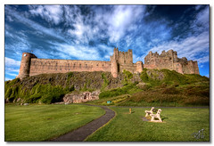 Bamburgh Castle (rjt208) Tags: sea castle heritage bench coast medieval historic northumberland bamburgh sportsfield bamburghcastle lordarmstrong rjt208 sportsgreen mygearandme