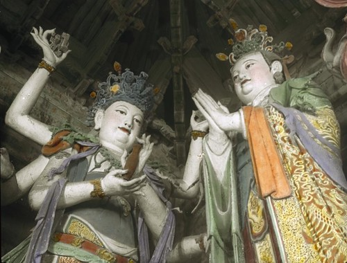 Painted clay sculptures of Ming dynasty in Dahui Si (Temple of the Great Wisdom)