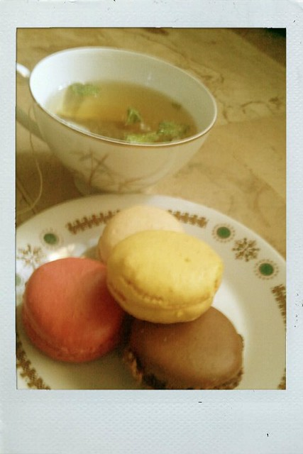 Macarons and tea