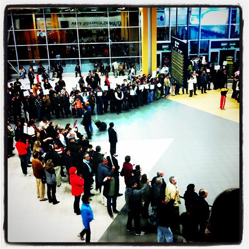 The 1am crowd at Lima's airport. #travel #airports #Lima