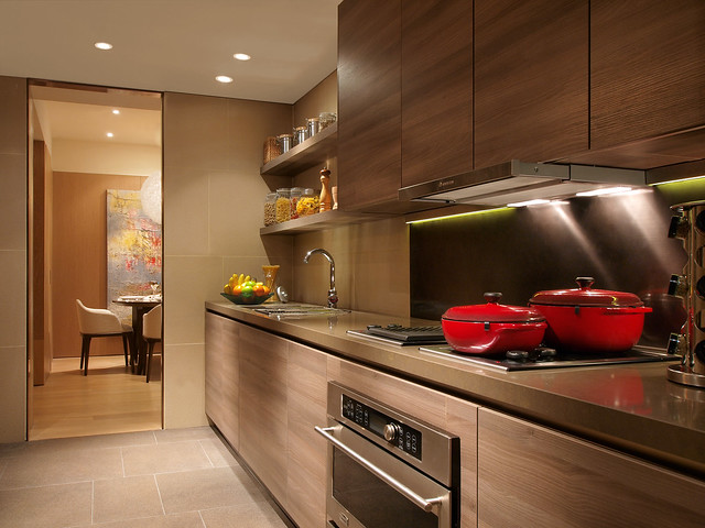 One Shangri-La Place Show Suite kitchen