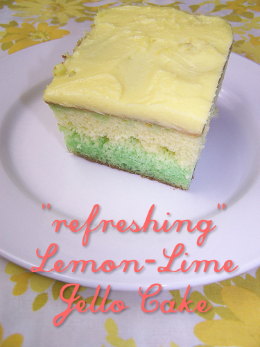 Lemon-Lime Jello Cake