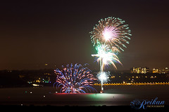 Sandbanks Fireworks (216/365) (Madmezza (also @reikanphoto)) Tags: blue colours fireworks explosion telephoto 365 distance sandbanks 8km longlens 5miles 216365 smartpyro reikanphotography