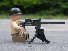 Browning Tri-pod Design ([funkymn]) Tags: world 2 pod war gun lego tripod wwii machine mg ba tri browning brickarms m1919