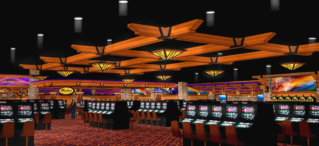 Gaming Floor Design | Interior Casino Design | Conceptual Casino Rendering | Timber Framed Casino | Comanche Nation Casino