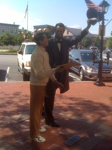 Lincoln & a tourist