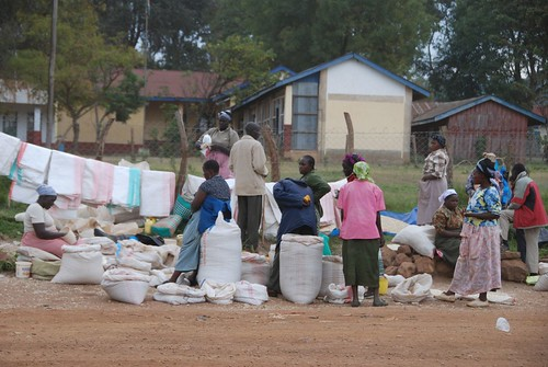 Maize market in Kilgoris town, Transmara West District