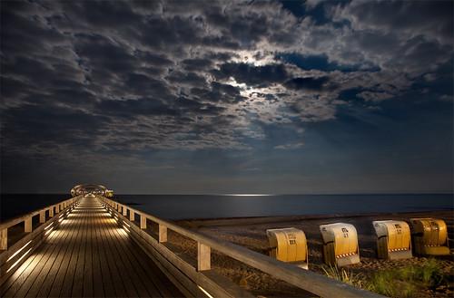 Ostsee im Mondschein